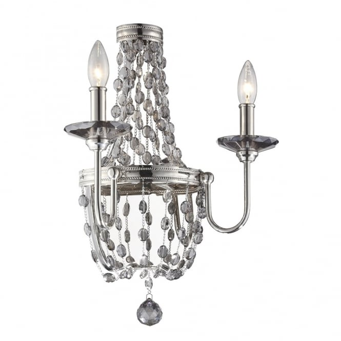 Feiss Malia Wall Light in Polished Nickel
