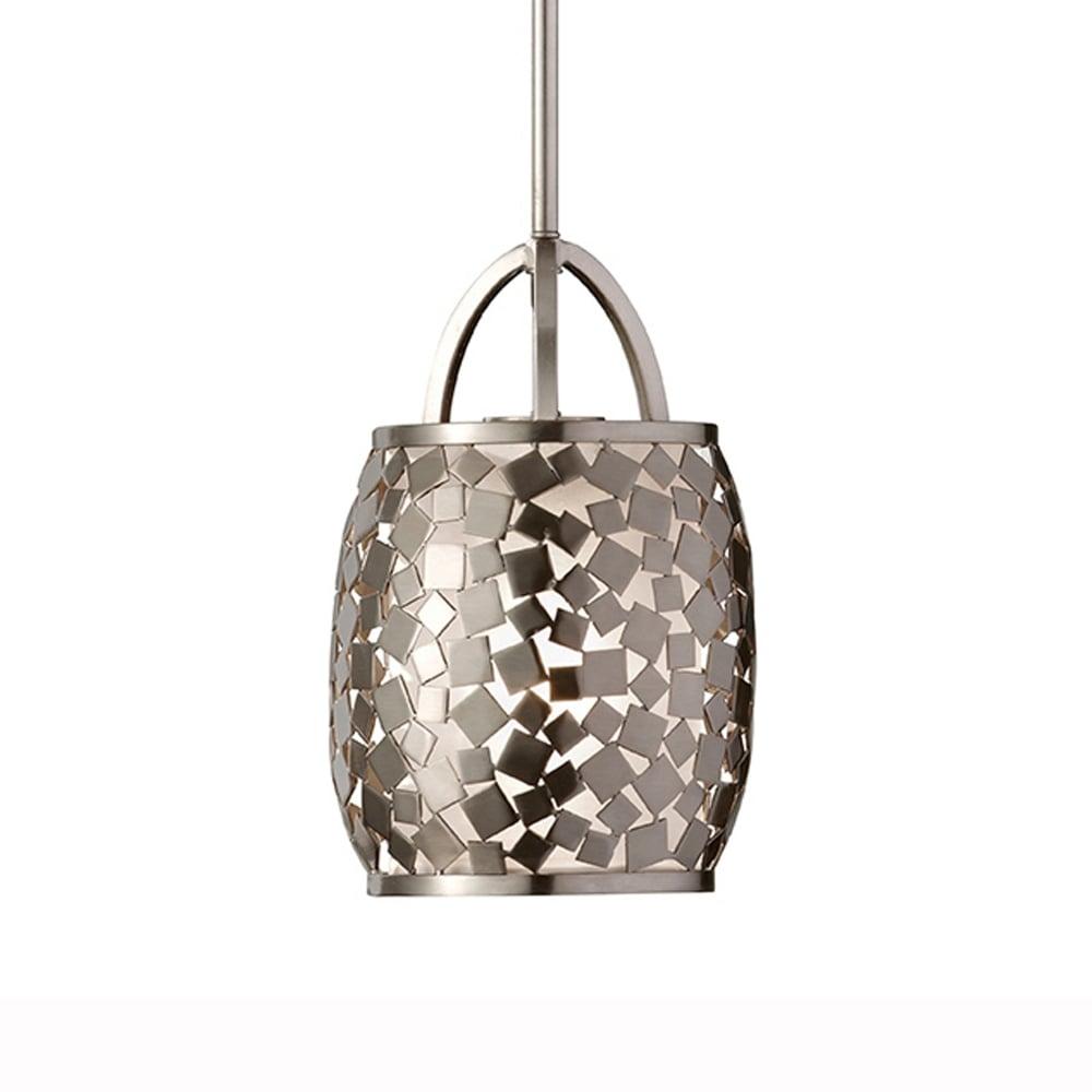 Feiss Zara Pendant Light In Brushed Steel