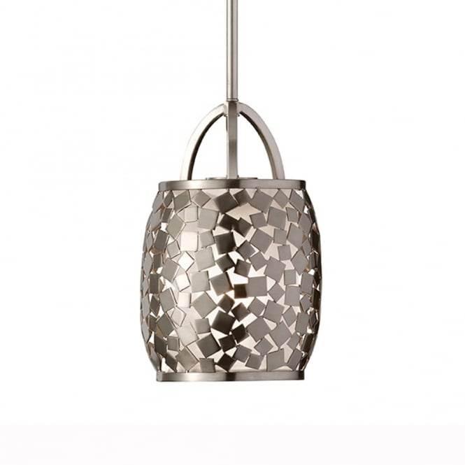 Feiss Zara Pendant Light in Brushed Steel