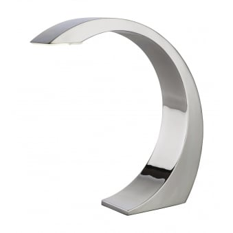 Arch Touch LED Table Lamp Finished in Chrome