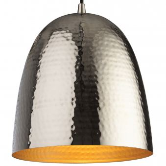 Assam Nickel Pendant with Matt Brass Interior