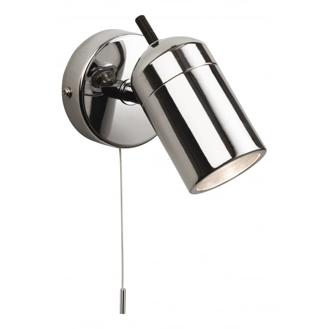 Firstlight Atlantic Single Light Wall Spotlight In Chrome