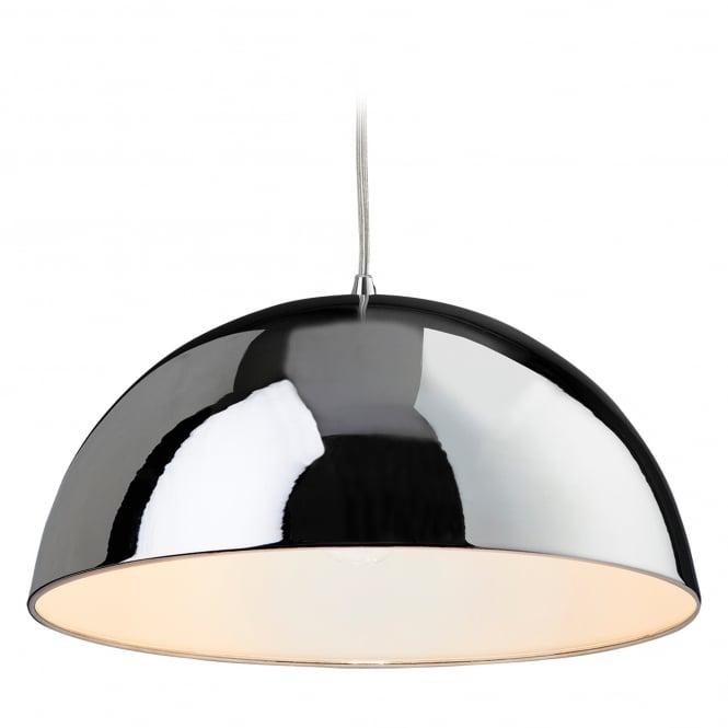 Firstlight Bistro Pendant with Chrome Finish and White Inner