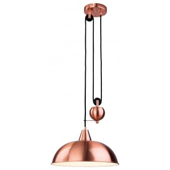 Century Rise and Fall Pendant Finished in Brushed Copper