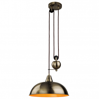 Century Rise and Fall Pendant in Antique Brass