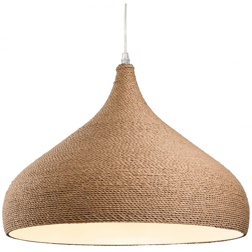Outdoor Lights Gold Coast: Firstlight Coast Pendant Light With Brown Rope Finish