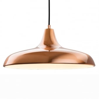 Curtis Slimline Pendant in a Brushed Copper Finish