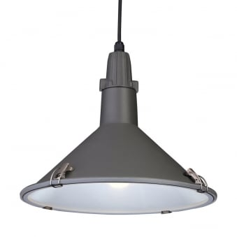 Eden Splash Proof Pendant in Powder Coated Grey