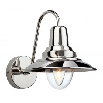 Fisherman Wall Light in Chrome