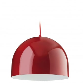 House Pendant in Red with White Inner