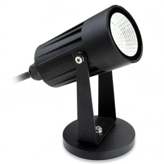 LED 5W Spot Exterior Ground or Wall Light in Black