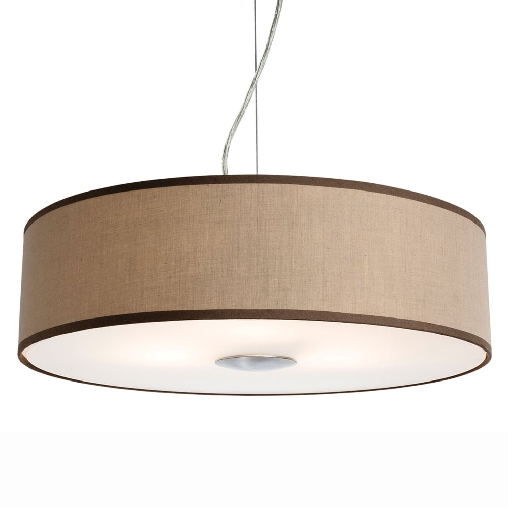 Firstlight Madison Pendant Light In Taupe Fabric With