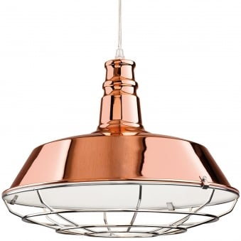 Manta Pendant in Copper with Chrome Grill