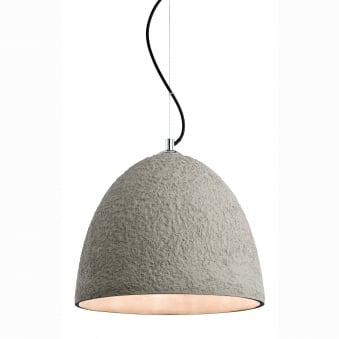 Natural Textured Concrete Pendant Light