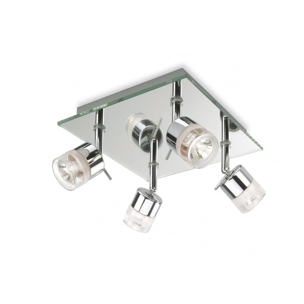 Bathroom Light Fittings firstlight ocean 4 spotlight bathroom light with chrome and mirror