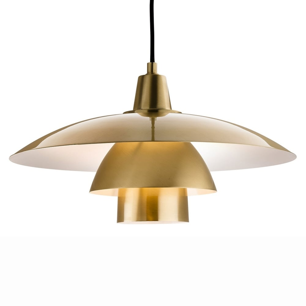 Olsen scandinavian pendant in brushed brass