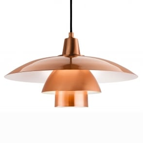 Olsen Scandinavian Pendant in Brushed Copper