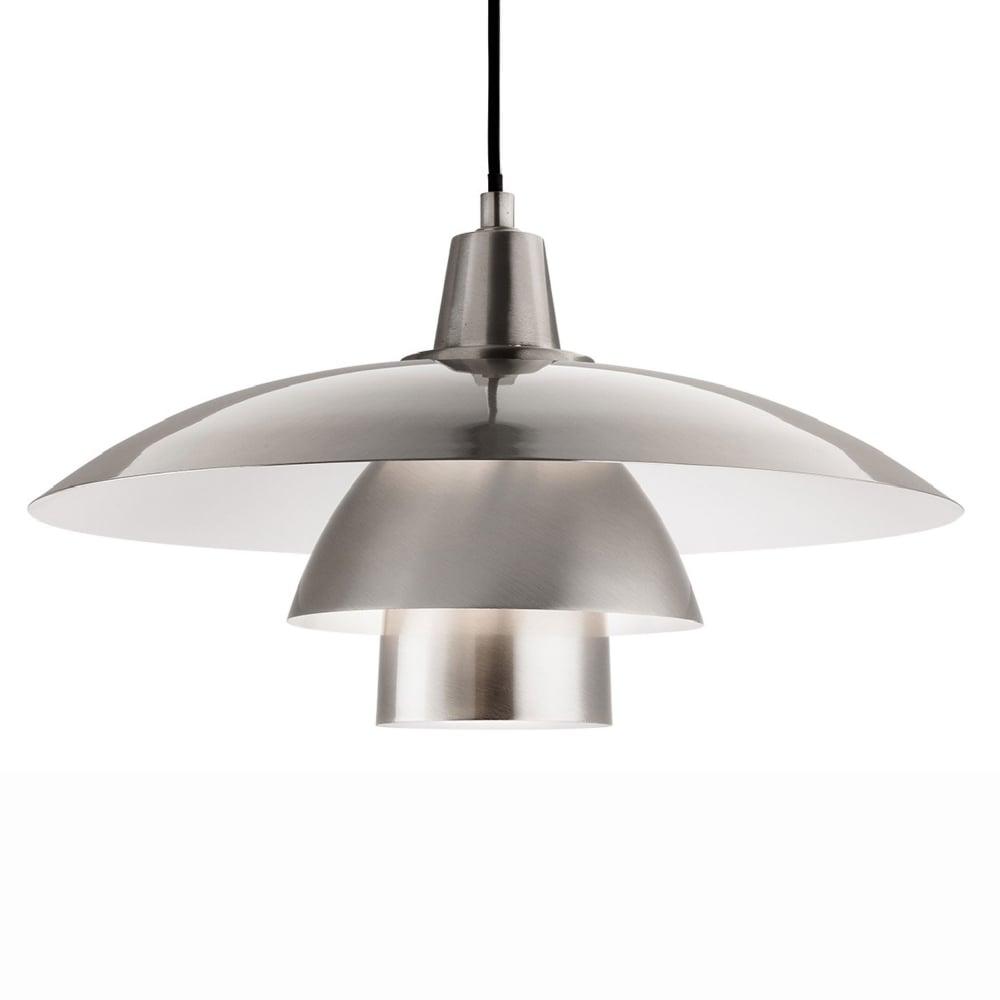 Firstlight Olsen Scandinavian Pendant In Brushed Steel