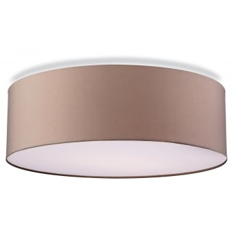 Phoenix Flush Fitting in Taupe with Frosted Diffuser