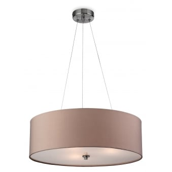 Phoenix Pendant in Taupe with Frosted Diffuser