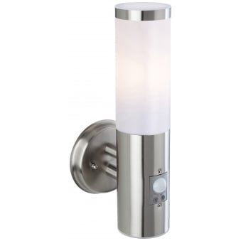 Plaza Exterior PIR Wall Light in Stainless Steel