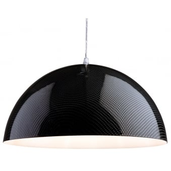 Racing Pendant Light with Carbon Fibre Effect Finish