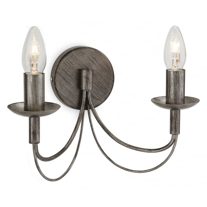 Firstlight Regency Two Light Wall Fitting Finished in Antique Silver