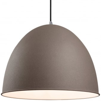 Riva Dome Pendant with Concrete Effect Finish