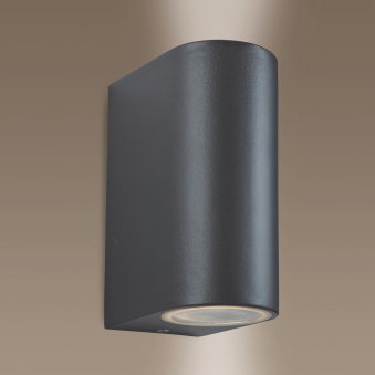 Scenic Up and Down Exterior Wall Light in Gun Metal