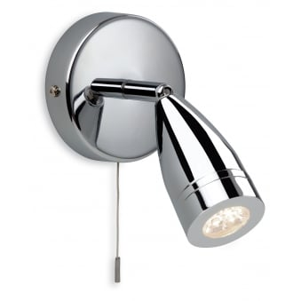 Storm LED Single Wall Spotlight in Chrome