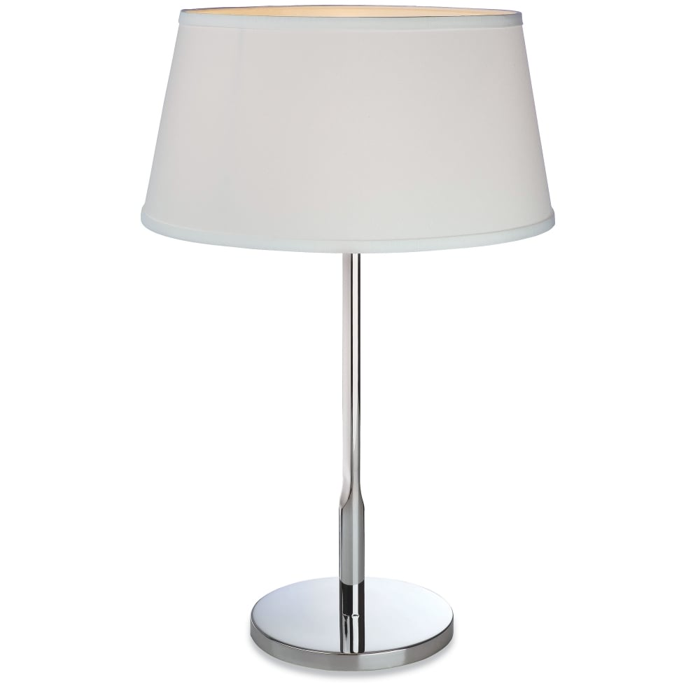 Firstlight transition polished stainless steel table lamp Types of table lamps