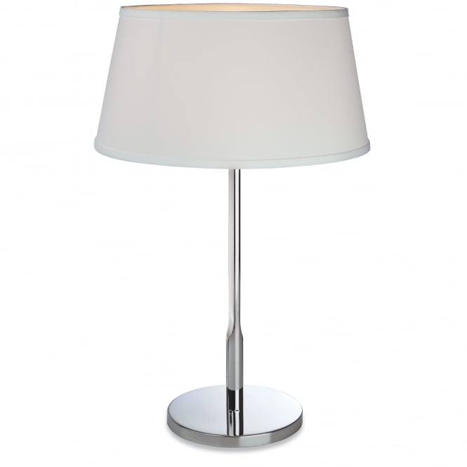 Firstlight Transition Polished Stainless Steel Table Lamp with Cream Shade