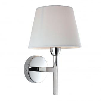 Transition Polished Stainless Steel Wall Light with Cream Shade