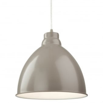 Union Pendant Light Finished in Mushroom