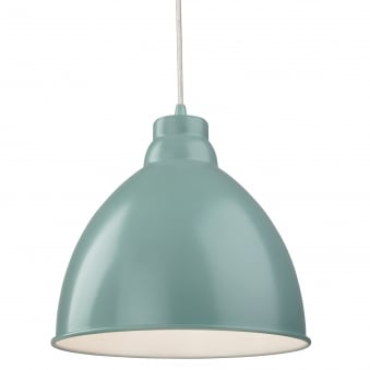 Union Pendant Light Finished in Pale Blue