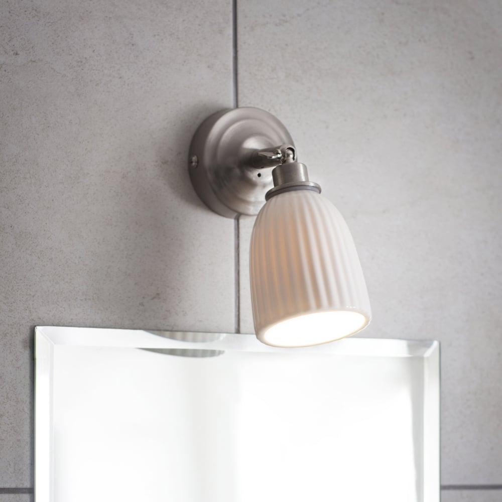 Garden trading lial02 alma ceramic bathroom spot light in satin nickel alma ceramic bathroom spot light in satin nickel mozeypictures Image collections
