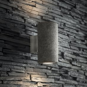 Austell Up and Down IP44 Outdoor Wall Light in Granite