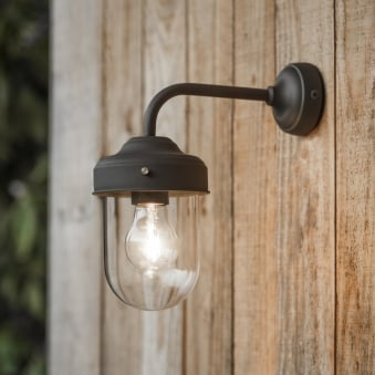 Barn Outdoor Wall Lamp in Coffee Bean