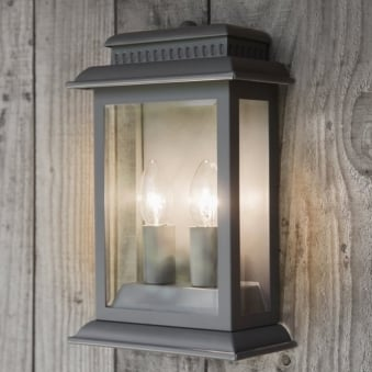 Belvedere Outdoor Lantern in Charcoal
