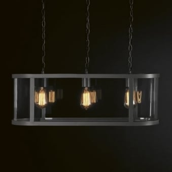 Cadogan Trio Light in Charcoal