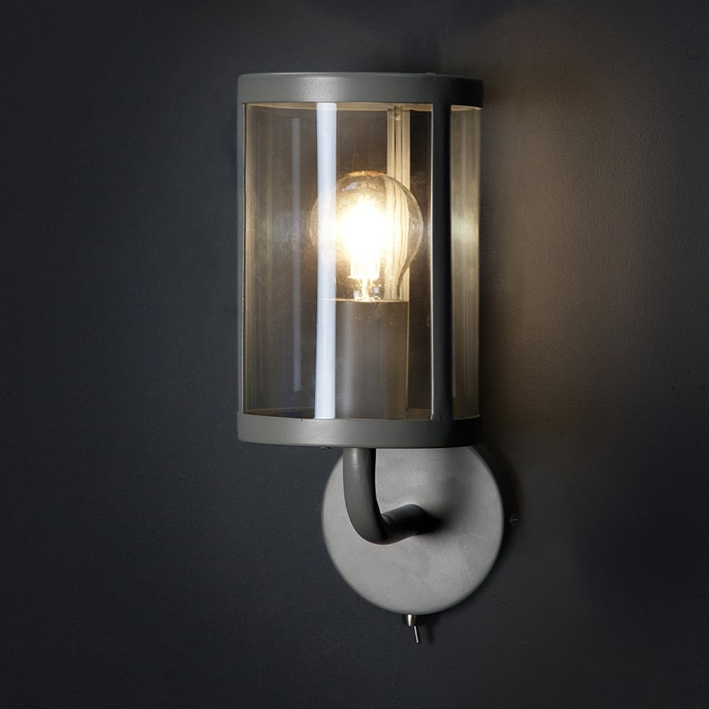 Garden Trading Cadogan Wall Light In Charcoal Fitting