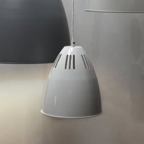 Cavendish Small Vented Pendant Light in Chalk