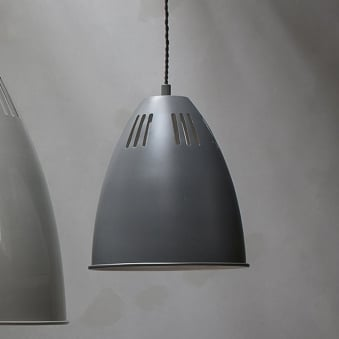 Cavendish Small Vented Pendant Light in Charcoal