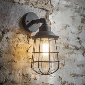 Finsbury Exterior Wall Light in Charcoal