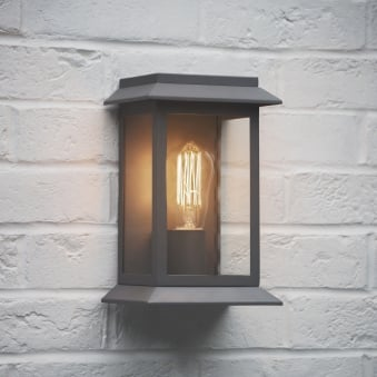 Grosvenor Outdoor Wall Light in Charcoal