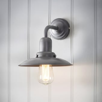 Hobury Wall Lamp in Charcoal