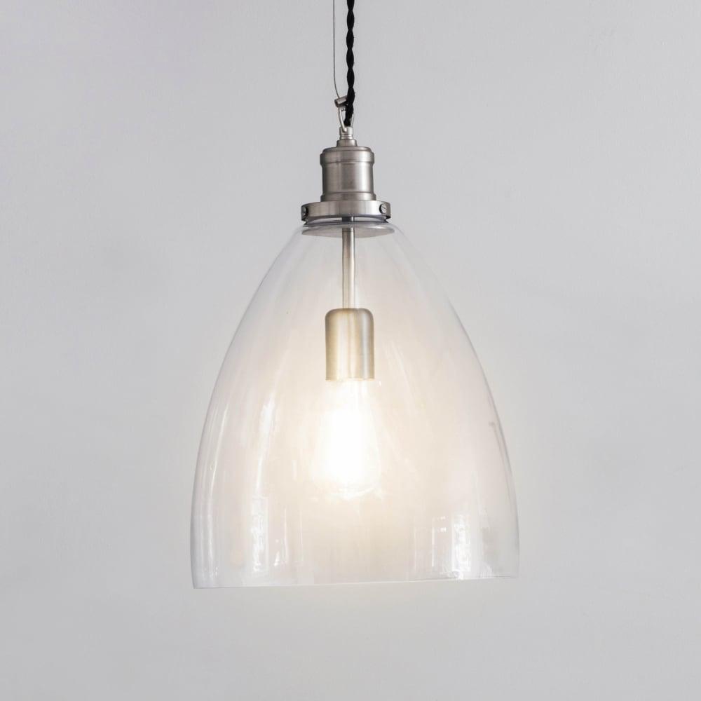 large glass pendant light. Hoxton Large Bullet Glass Pendant Light E