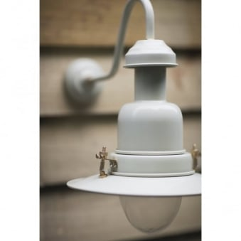 Outdoor Fishing Wall Light in Clay
