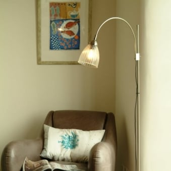 Pimlico Glass and Nickel Floor Lamp