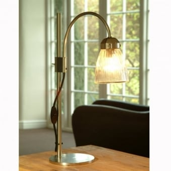 Pimlico Glass and Nickel Table Lamp